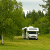 RV in the Shadows of Mt. Katahdin