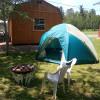 Tent/treat- pre-set tent retreat