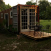 Eco off grid cabin on a farm