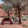 View of the Needles Campsites