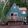 Adorable off grid A-Frame cabin