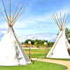 Desert Oasis Glamping in our Teepee
