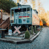 Sleep in a caboose on a bison ranch