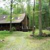 exclusive woodland log cabin