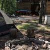 Primitive Tent camping