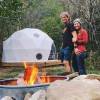 HEATED Boone NC DOME TENT on creek