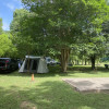 Shaded campground on the Brazos R.