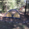 Tent camping with amenities