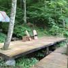 Bridge Over Live Mountain Stream