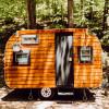 Vintage wood camper