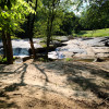 Waterfall camping close to CLT