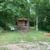 Guthrie Meadows Blue door cabin