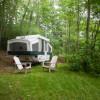 Pop up camper in the Catskills