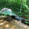 Suspension Tent over Stream