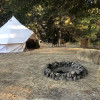 The Knob Bell Tent w/redneck hottub