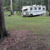 Tent and RV hookup and RV for rent