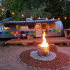 Airstream glamping in the mountains