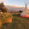 Tipi near a Trout Pond