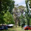 Riverside Hut Camping guests