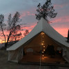 20' bell tent in a hidden canyon