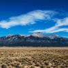 Serene Desert, Mountains & Horses