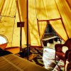 Canvas Bell Tent with Woodstove