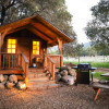 Redwood Cabin nestled in the oaks