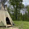 Tranquil Tipi with Pond View