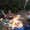 Camper on Lake Michigan