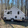 Aliner RV on seven acre pond