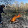 Primitive riverside camping