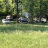 Primitive camping by the creek