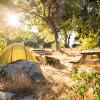 Mountain camping at a vineyard