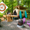 Cozy Fall Waterfront Glamping Oasis