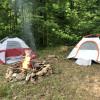 Pizza slice primitive camp site