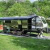 RV Camping by the Fruit Trees