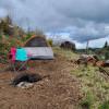 Beautiful hillside tent sites