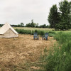 Glamping tent in private field