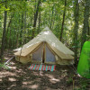 Canvas bell tent  in private Forest