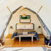 Canvas tent on the Hudson