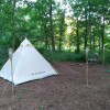 Little White Tent in the Big Woods