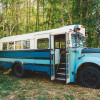 Secluded school bus suite