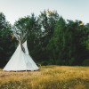 Tipi camping experience