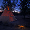 Tipi in the Junipers