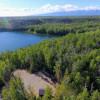 Large gravel RV pad on private lake