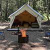 Cozy wall tent on 75 private acres