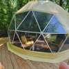 Beautiful forest view GeoDome tent