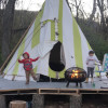 Tipi on the Ct River