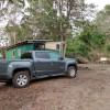 Camper Van Parking in the forest